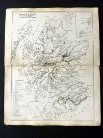 Cornwell & Dower 1849 Antique Map. Scotland